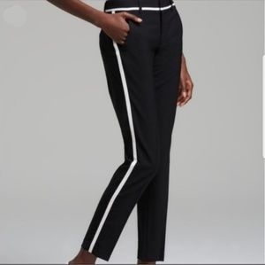 Vince Black Tuxedo Stripe Wool Blend Pants sz 4